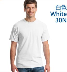 全棉圆领白色文化衫定做加工