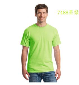 广州全棉圆领果绿色文化衫定制厂家