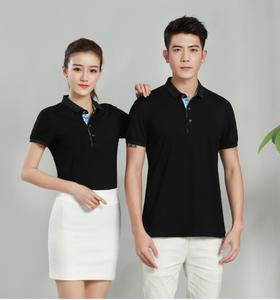 广州厂家定制欧根棉翻领工服