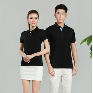 广州厂家定做欧根棉黑色夏季工作服