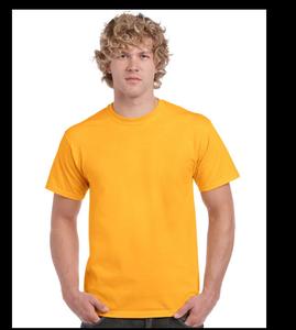 厂家定制加厚精梳全棉黄色220克文化衫